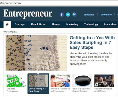 Entrepreneur – Getting to a Yes With Sales Scripting in 7 Easy Steps